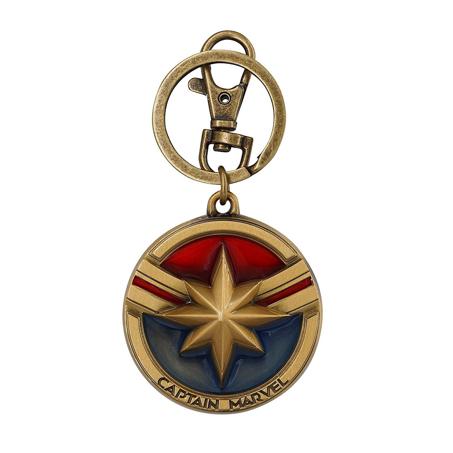 Marvel Captain Marvel Logo Pewter Keychain