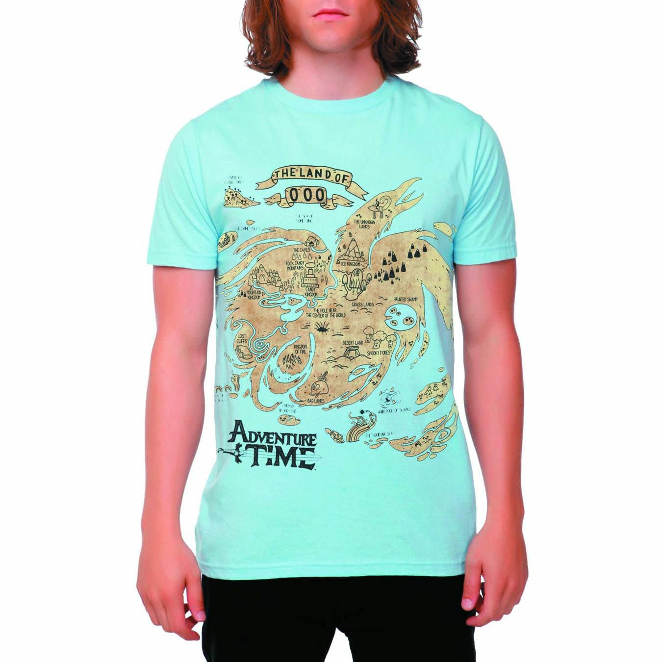 Adventure Time Map Of Ooo Mens Blue T-Shirt | S