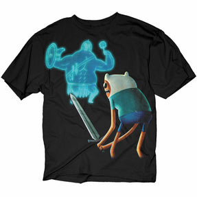 Adventure Time Finn Vs Gladiator Black T-Shirt | S