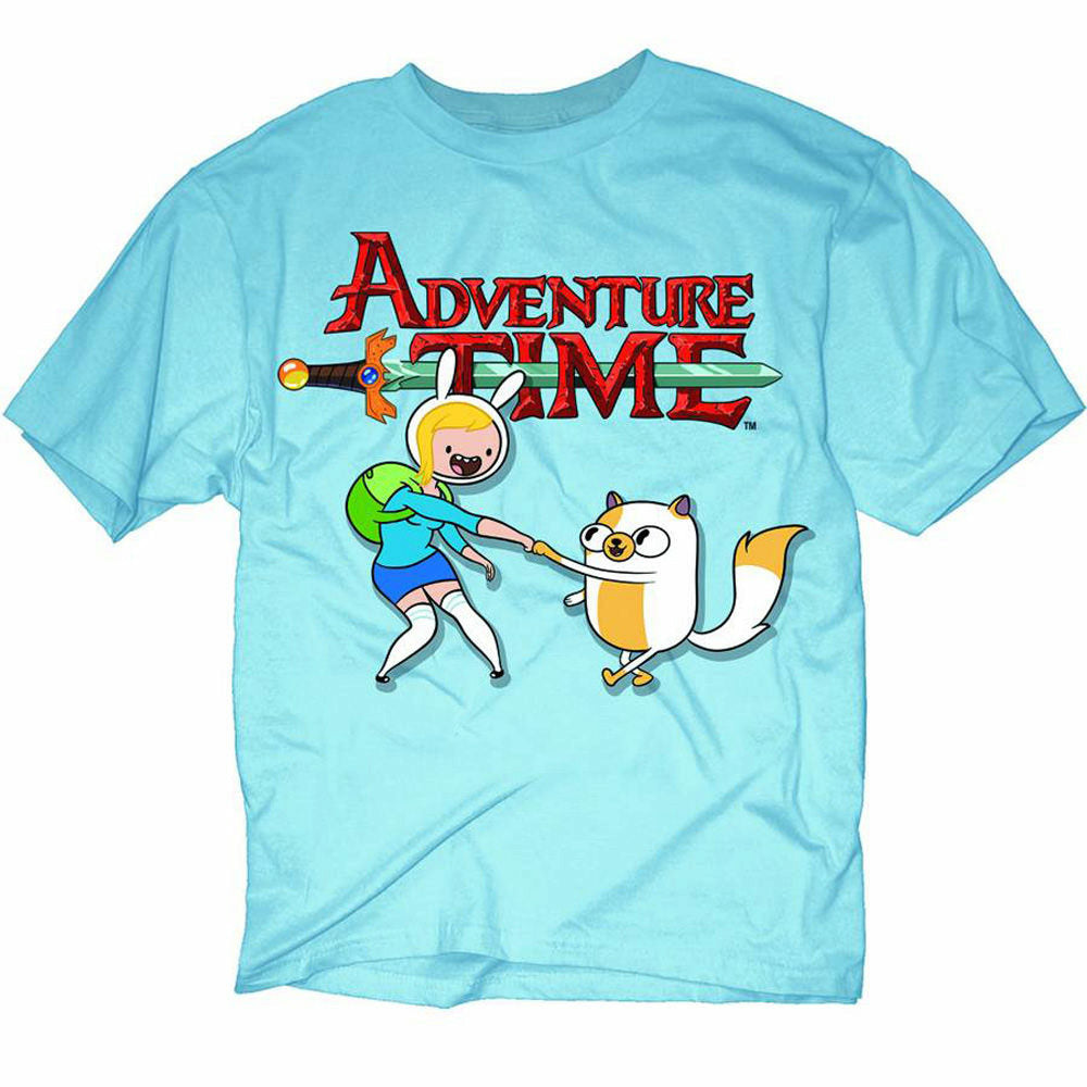 Adventure Time Fionna & Cake Mens Blue T-Shirt | M