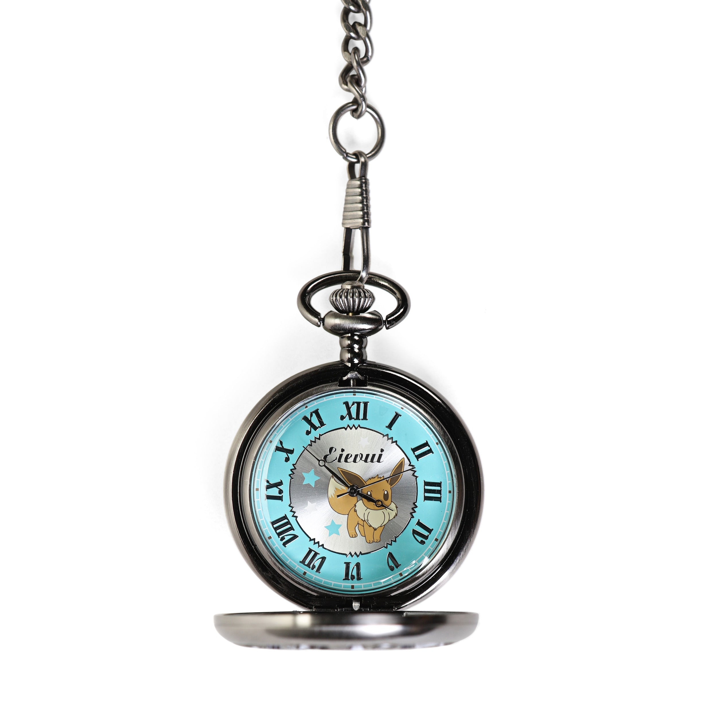 Pokemon Sun and Moon Eevee Pocket Watch