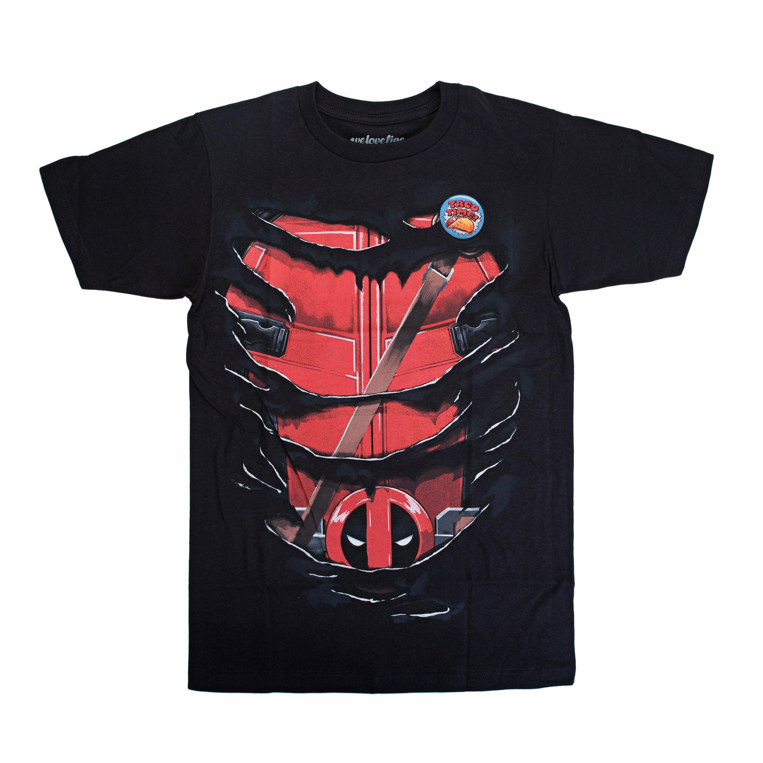 Marvel Deadpool Ripped Graphic T-Shirt