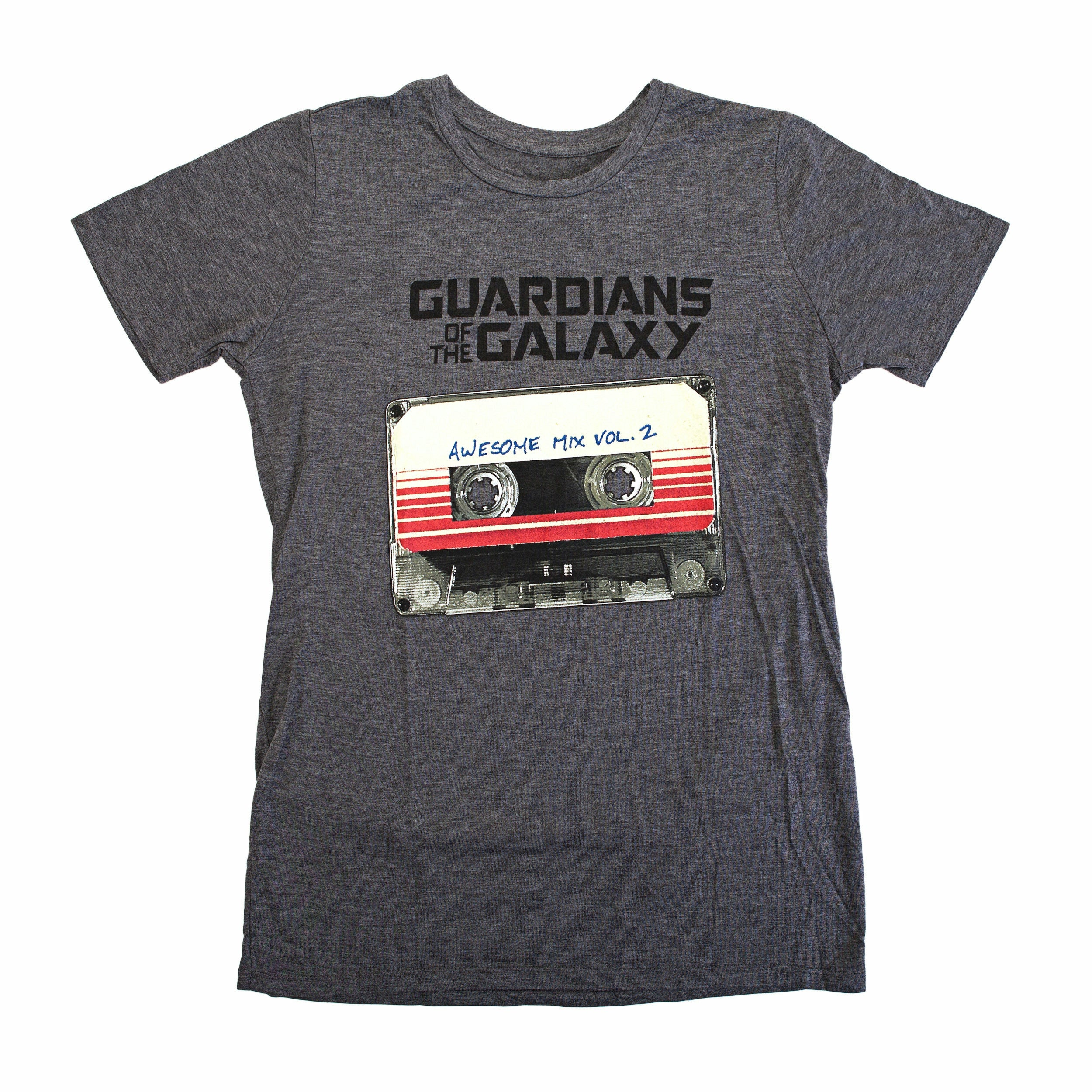 Guardians of the Galaxy Vol. 2 Awesome Mix Graphic Juniors Heather T-Shirt