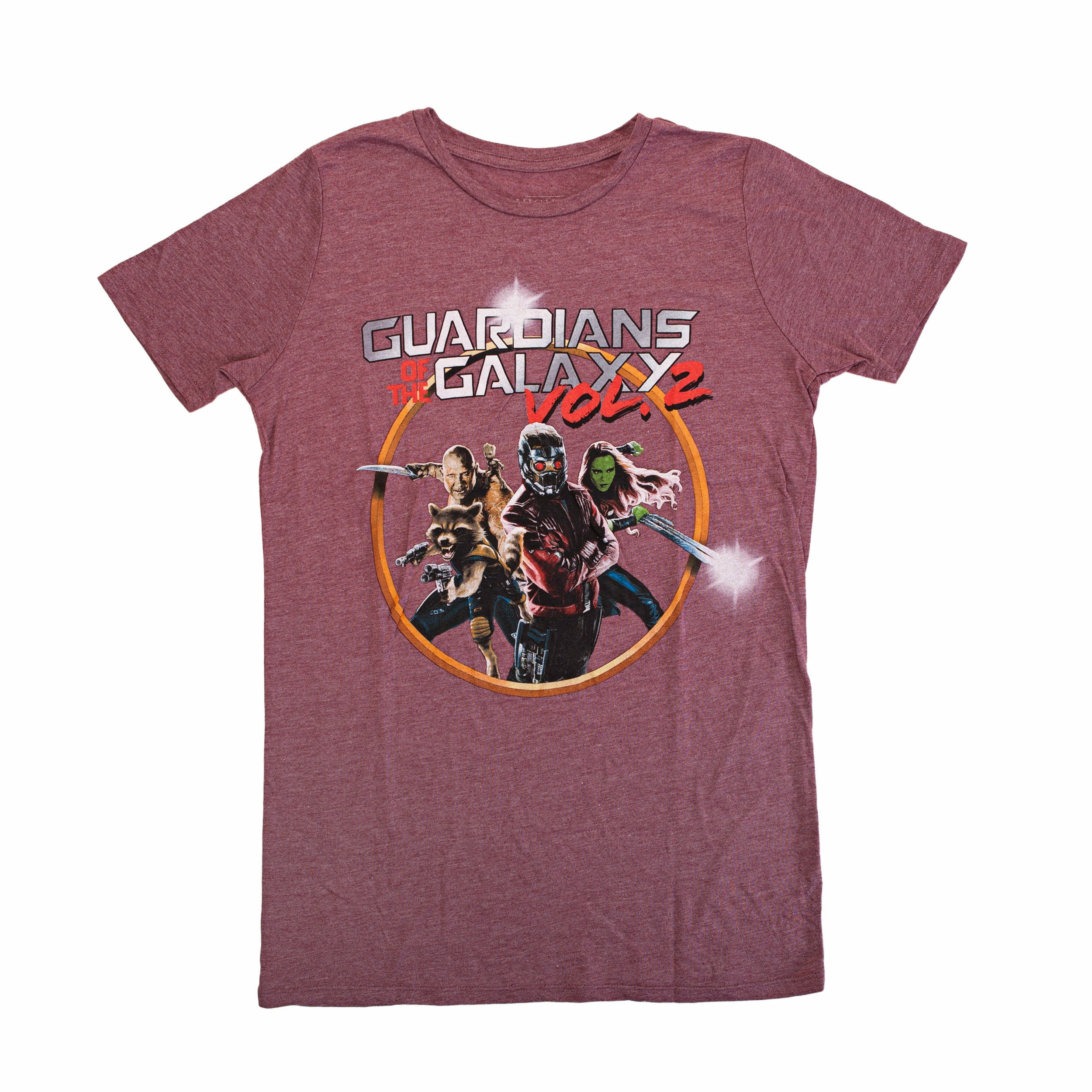 Guardians of the Galaxy Vol. 2 Group Graphic Juniors Heather T-Shirt