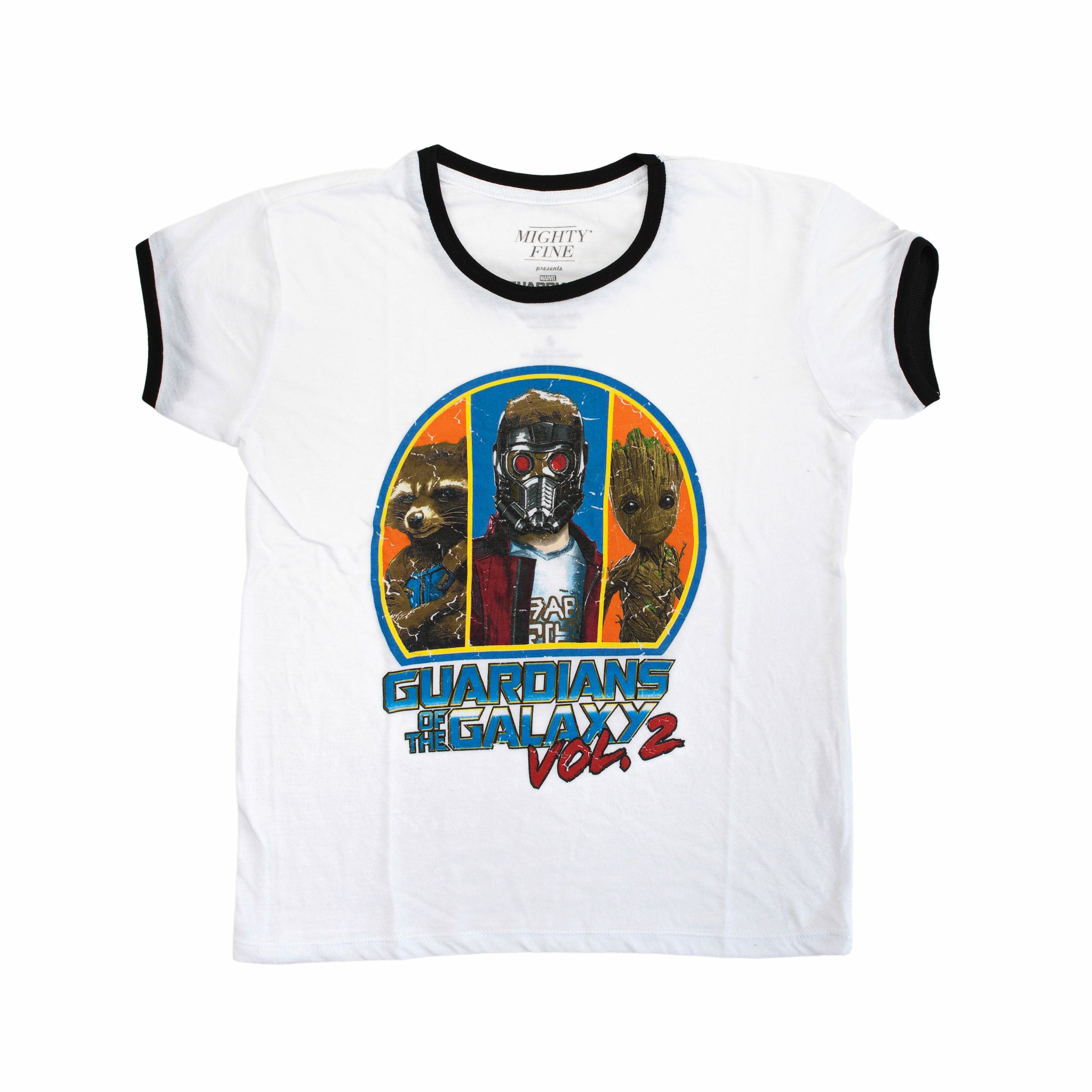 Guardians of the Galaxy Vol. 2 Retro Guardians Graphic Juniors T-Shirt