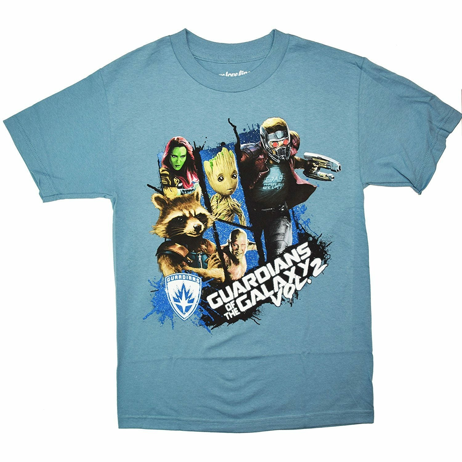 Marvel Guardians of the Galaxy 2 Group Grid Graphic T-Shirt