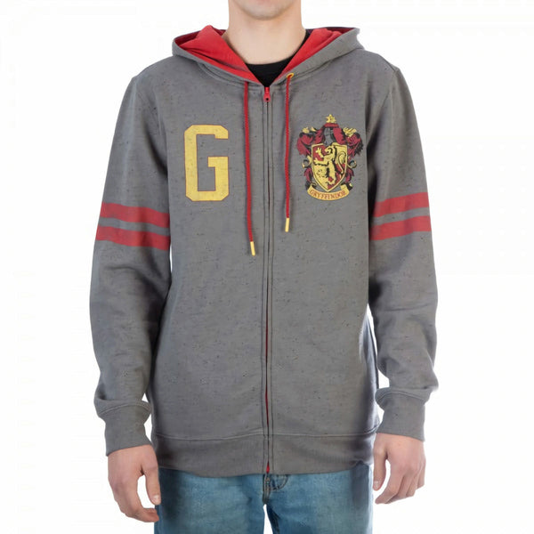 Harry Potter Gryffindor Symbol Zip Up Hoodie Sweatshirt