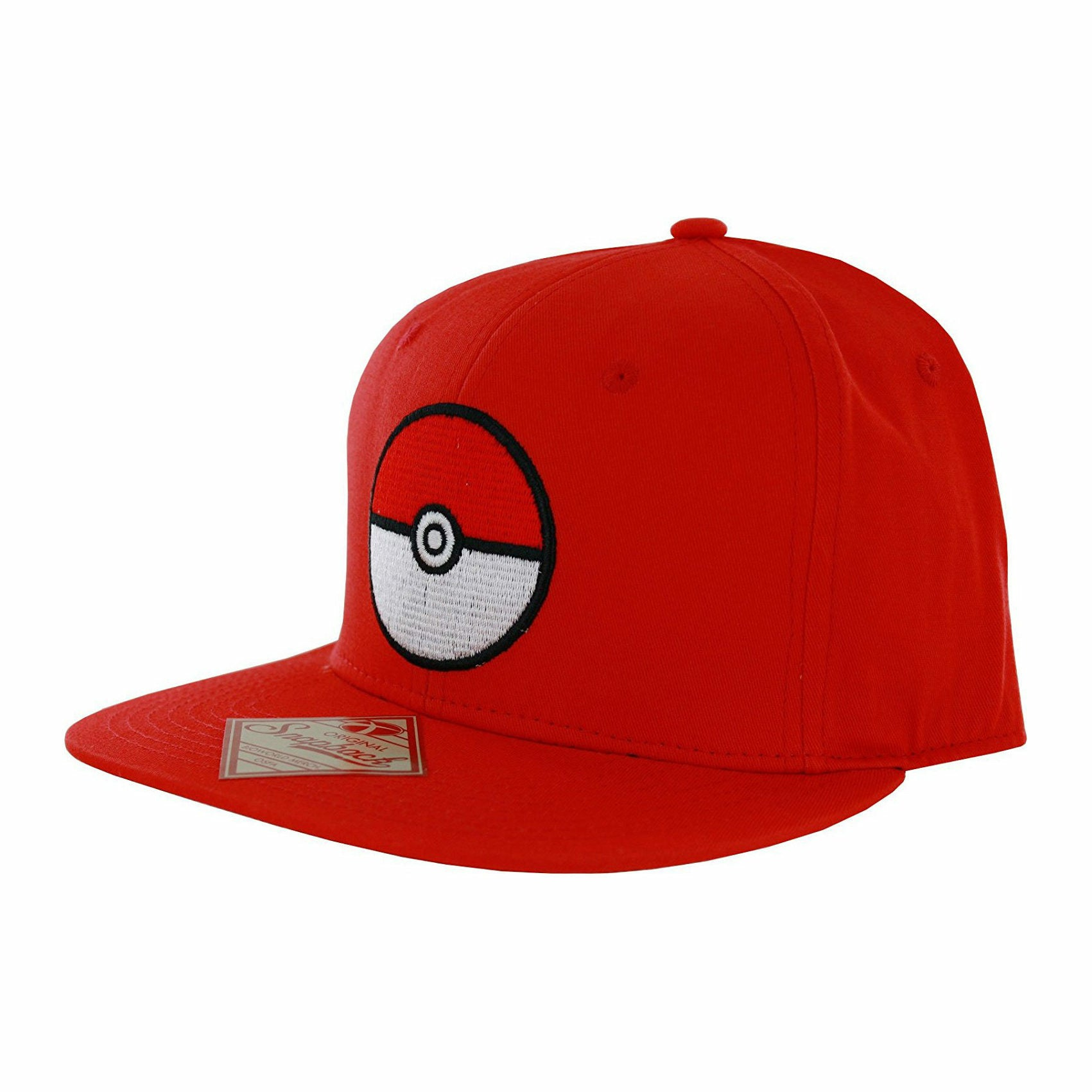 Pokemon Pokeball Red Snapback Baseball Cap