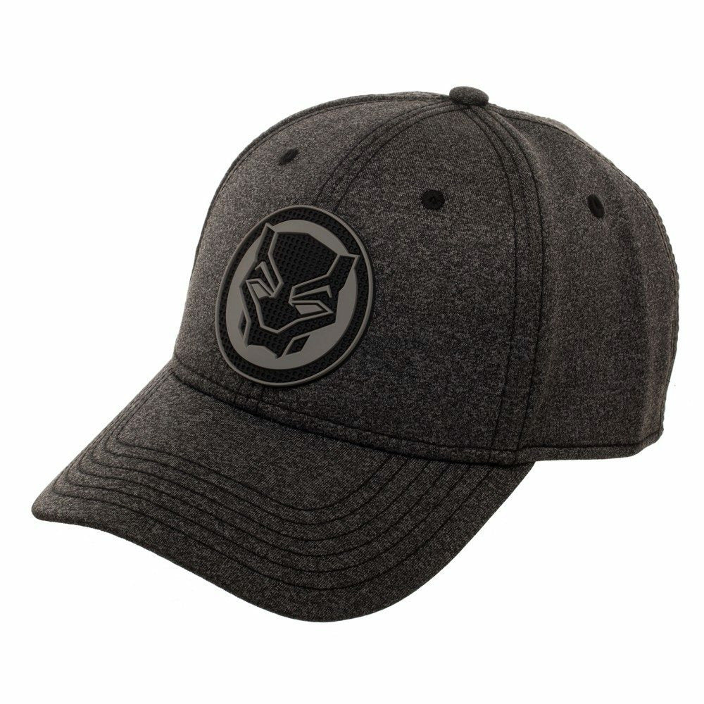 Marvel Black Panther Rubber Weld Cationic Flex Fit Baseball Cap