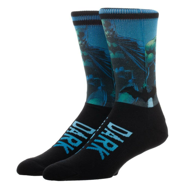 DC Comics Batman Sublimated Over Knit Crew Socks