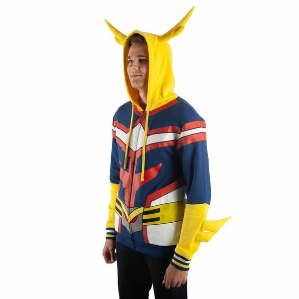My Hero Academia All Might Zip-Up Costume Hoodie Sweatshirt