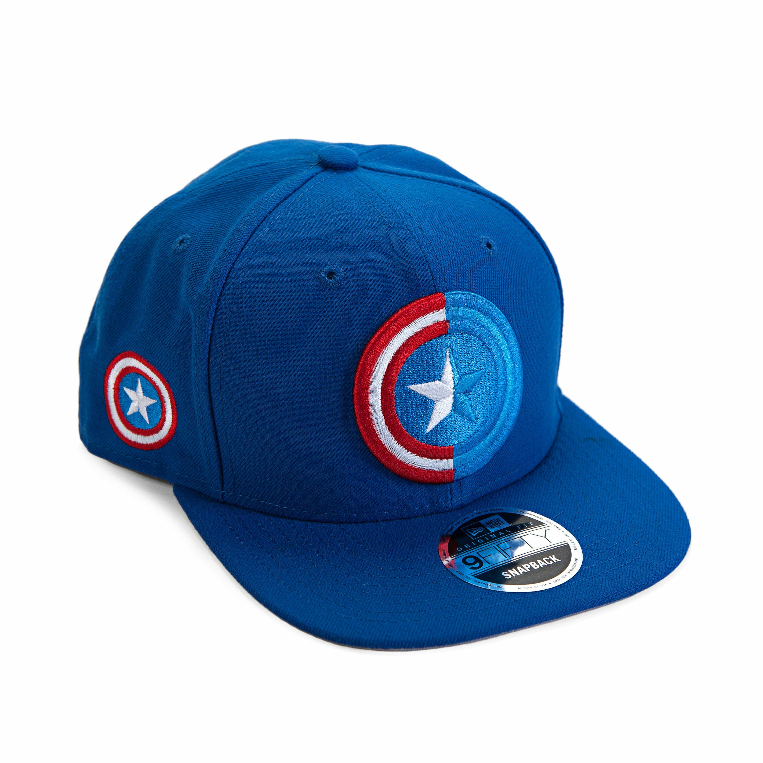 Marvel Captain America Shield Split Side Snapback Baseball Cap