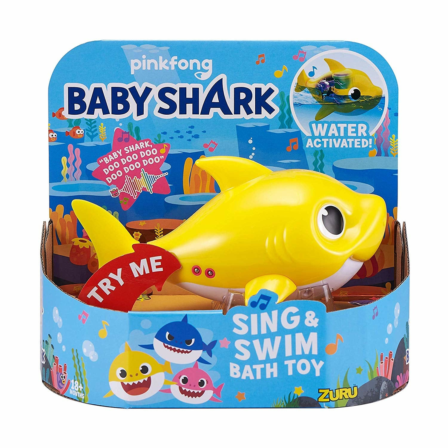 Baby Shark Yellow Robo Alive Junior Sing & Swim Bath Toy