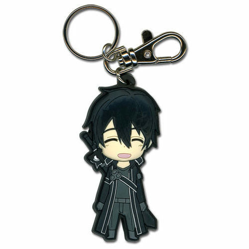 Sword Art Online Happy Kirito PVC Keychain