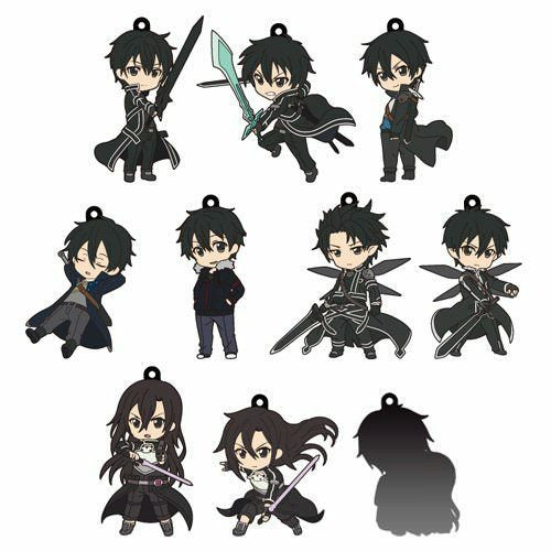 Sword Art Online II Pikuriru! Kirito Collection Rubber Trading Strap (1 Random)