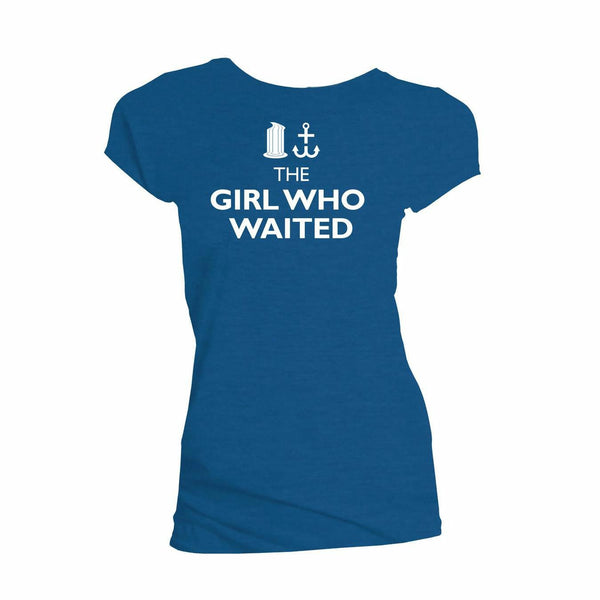 Doctor Who The Girl Who Waited Juniors Blue T-Shirt