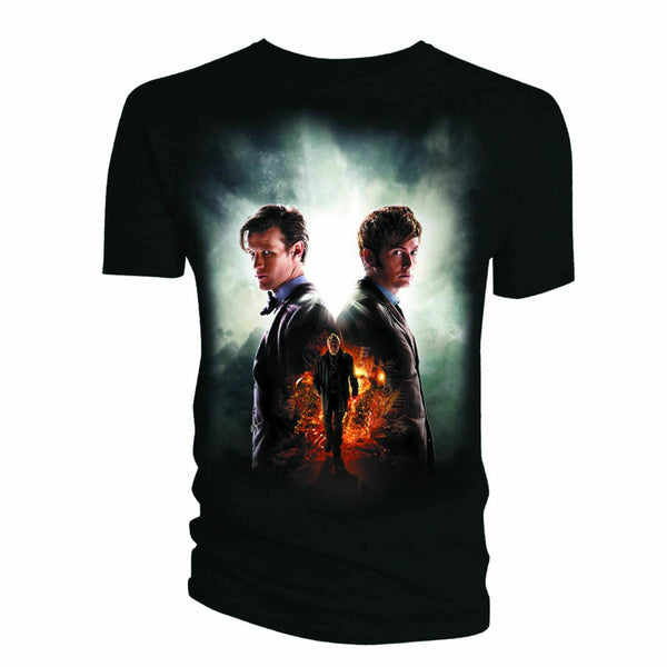 Doctor Who Day Of The Doctor Juniors Black T-Shirt