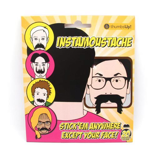 Thumbs Up! Clingy Instamoustache Set
