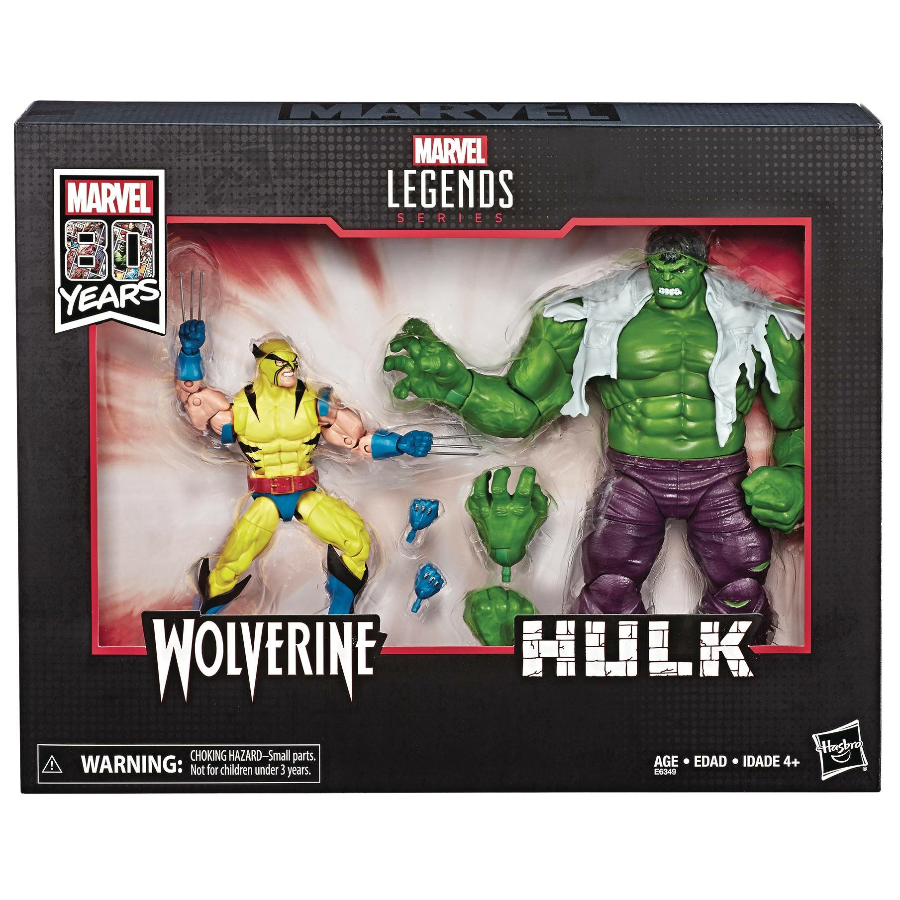 Marvel Legends 80th Anniversary Wolverine & Hulk 6 inch Action Figure Set