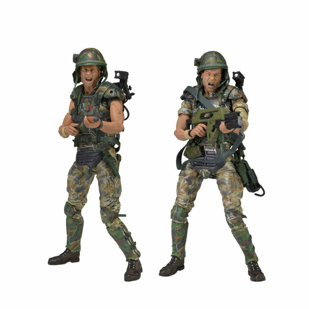 Aliens Colonial Marines 30th Anniv. Dwayne & William 7 inch Action Figure Set