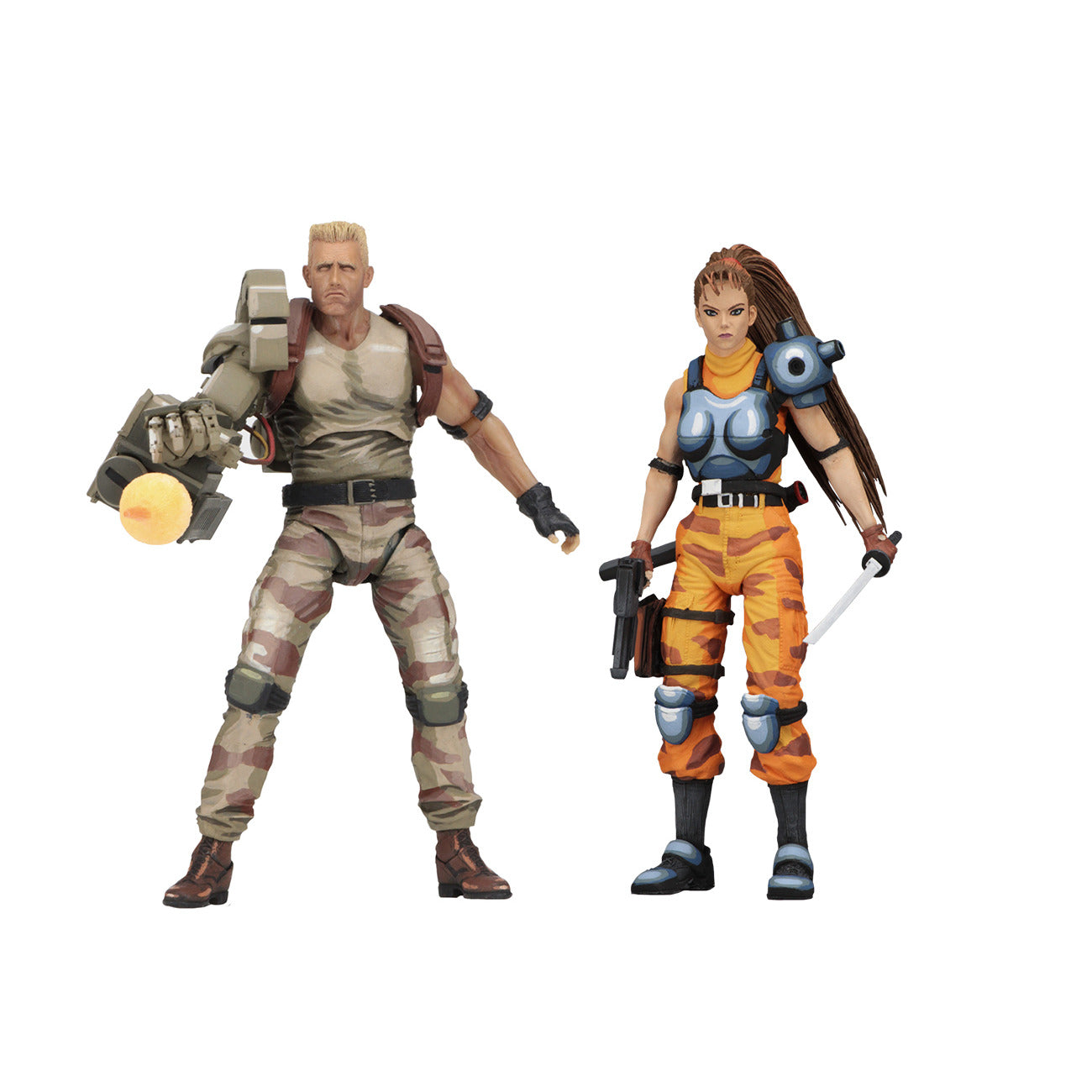 Alien vs. Predator Dutch & Lin Arcade Appearance 7 inch 2-Pack Action Figures