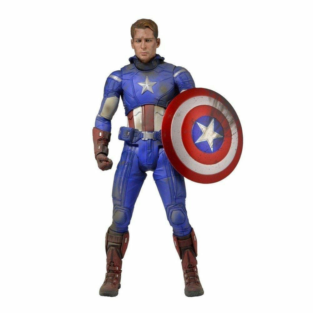 Neca Avengers Battle Damaged Captain America 1/4 Scale Action Figure