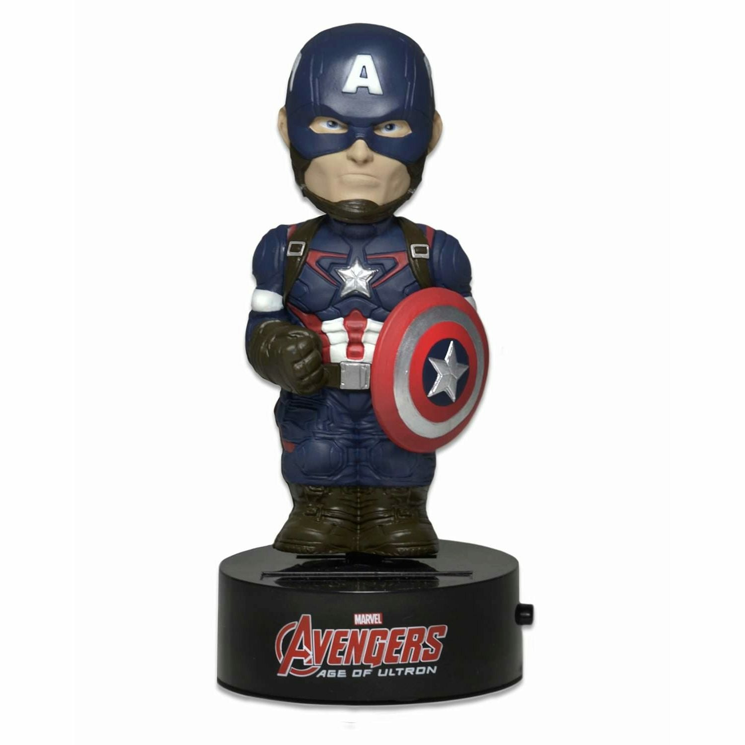 Neca Avengers Age of Ultron Captain America Solar Powered Body Knocker