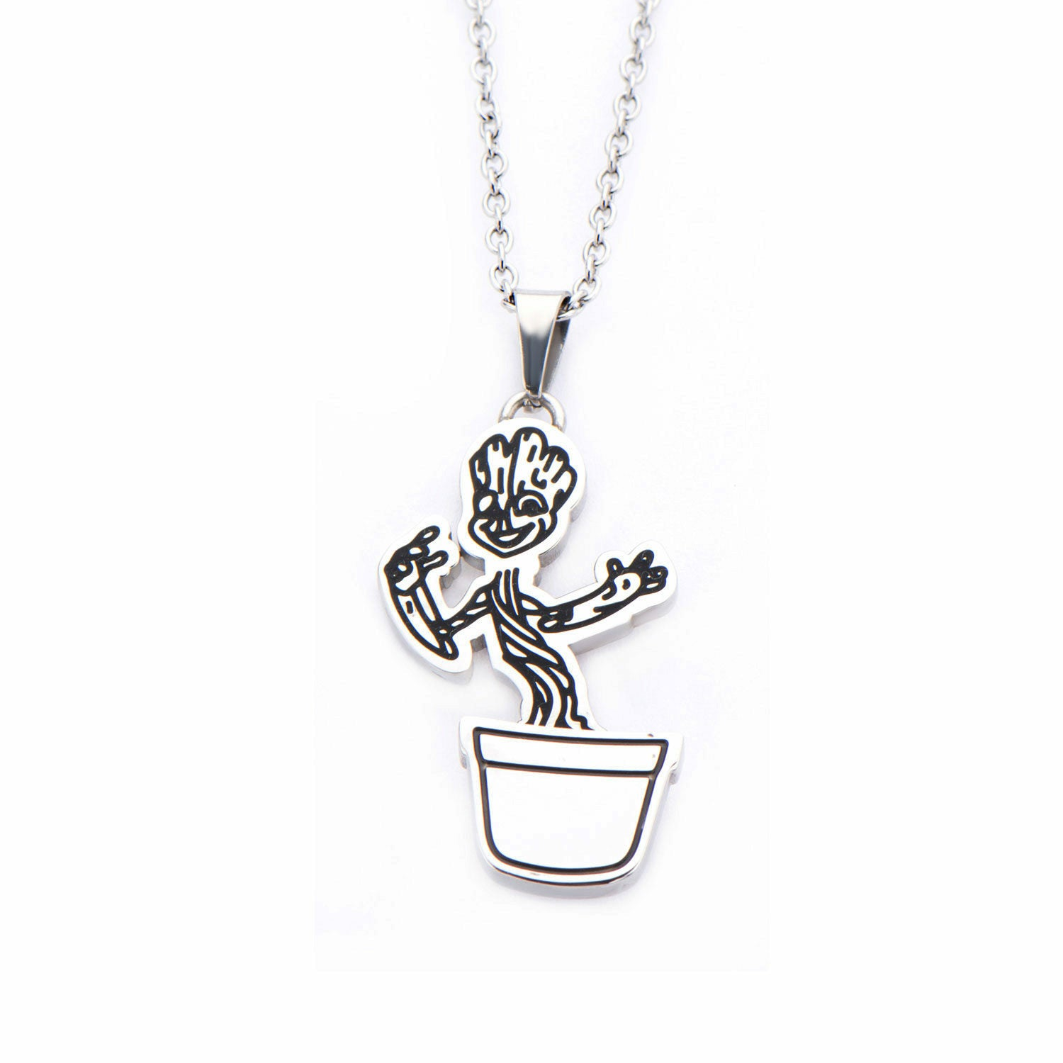 Marvel Guardians of the Galaxy Spinning Pot Groot Pendant Necklace