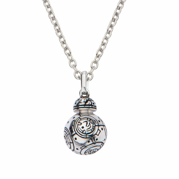 Star Wars VII: The Force Awakens BB-8 3D Pendant Sterling Silver Necklace