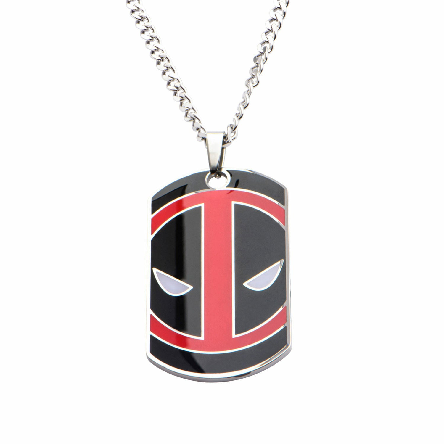 Marvel Deadpool Engraved Common Sense Dog Tag Pendant Stainless Steel Necklace