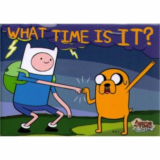 Adventure Time What Time Is It Magnet