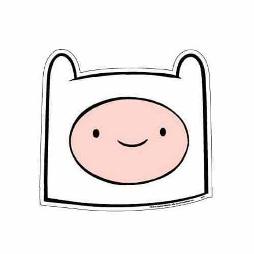 Adventure Time - Finn Head Car Magnet