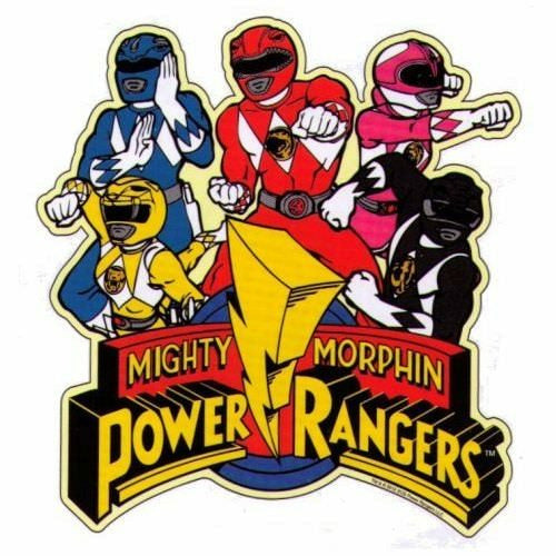 Mighty Morphin Power Rangers Group Rangers Car Magnet