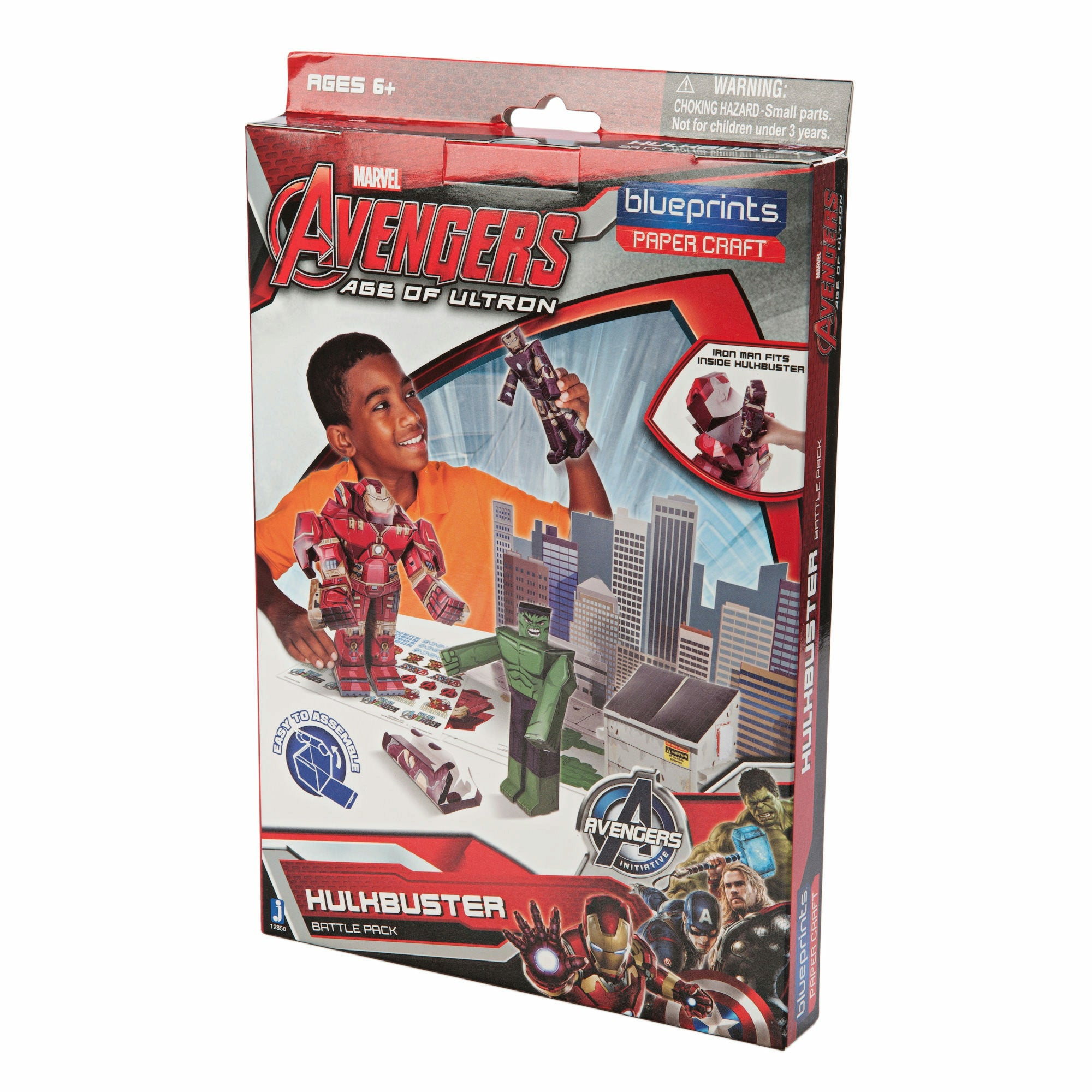 Marvel Avengers Age Of Ultron Hulkbuster Battle Pack Paper Craft Model Kit