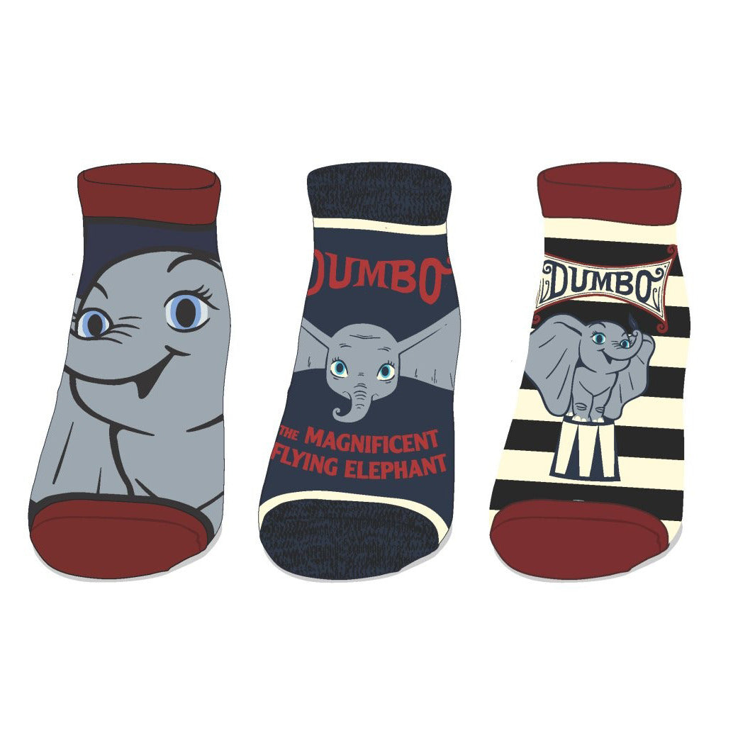 Dumbo 3 Pack Ankle Socks