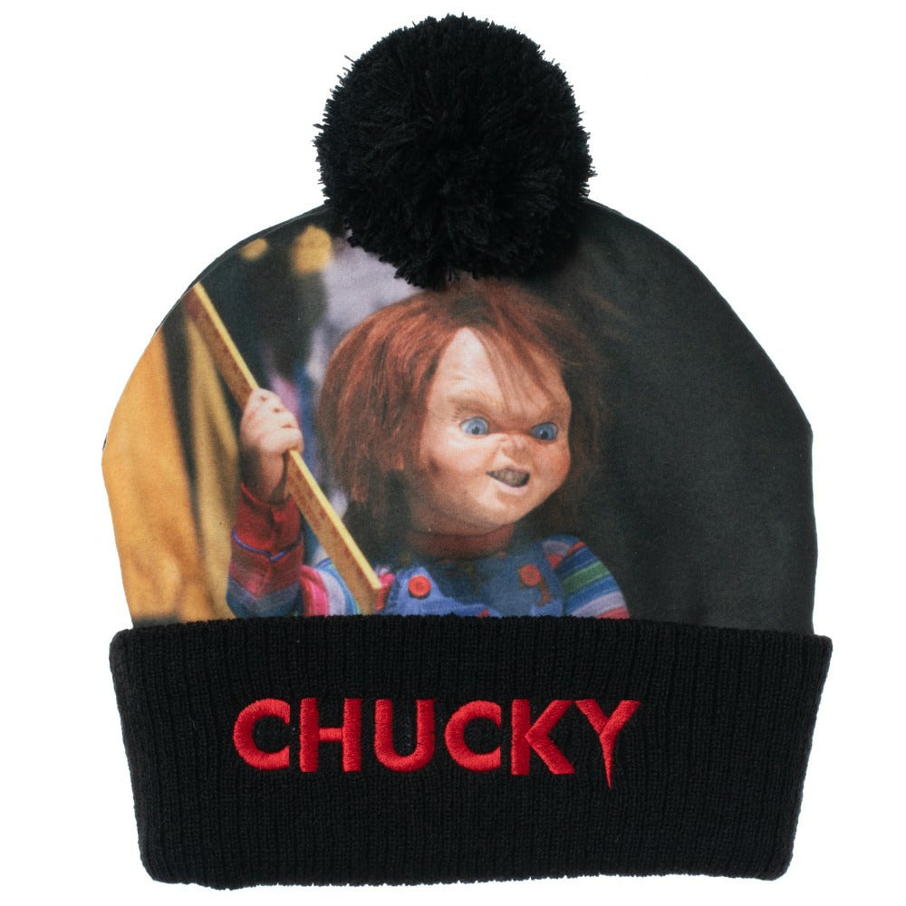Child's Play Chucky Pom Beanie Hat