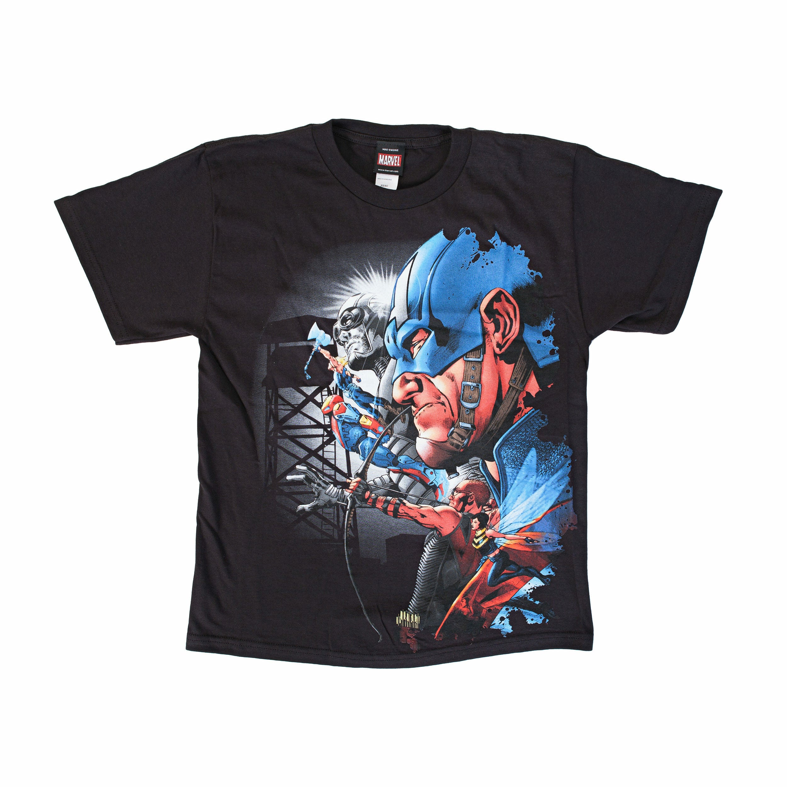Marvel Team-Ups Avengers Crew Captain Black T-Shirt