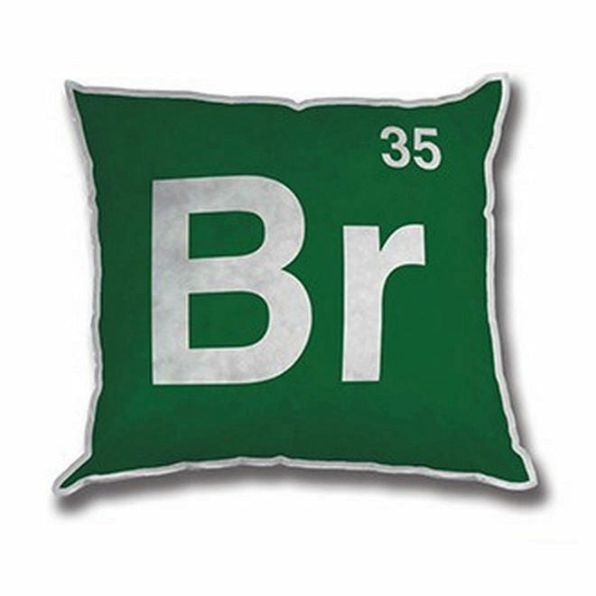 Breaking Bad Br Chemical Symbol 12 Inch Plush Pillow
