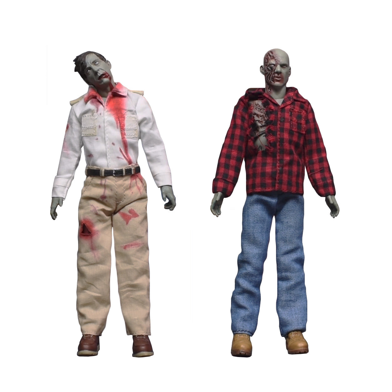 One-12 Collective Dawn of the Dead Fly Boy & Plaid Zombie 1/12 Scale Figures