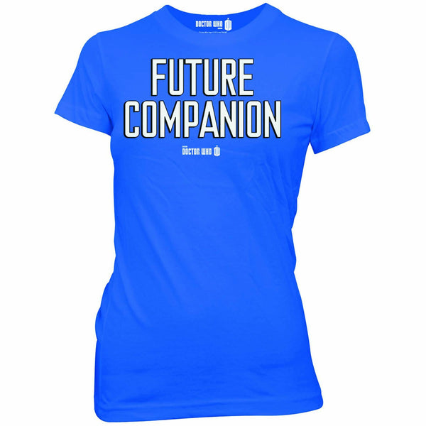 Doctor Who Future Companion Blue Juniors T-Shirt