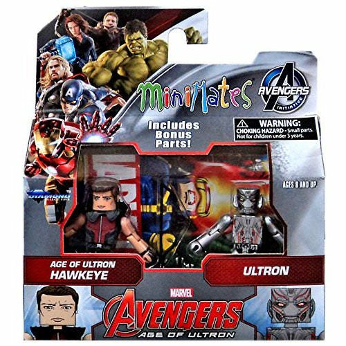 Marvel Avengers Age of Ultron Hawkeye and Ultron Minimates Action Figures 2 Pack