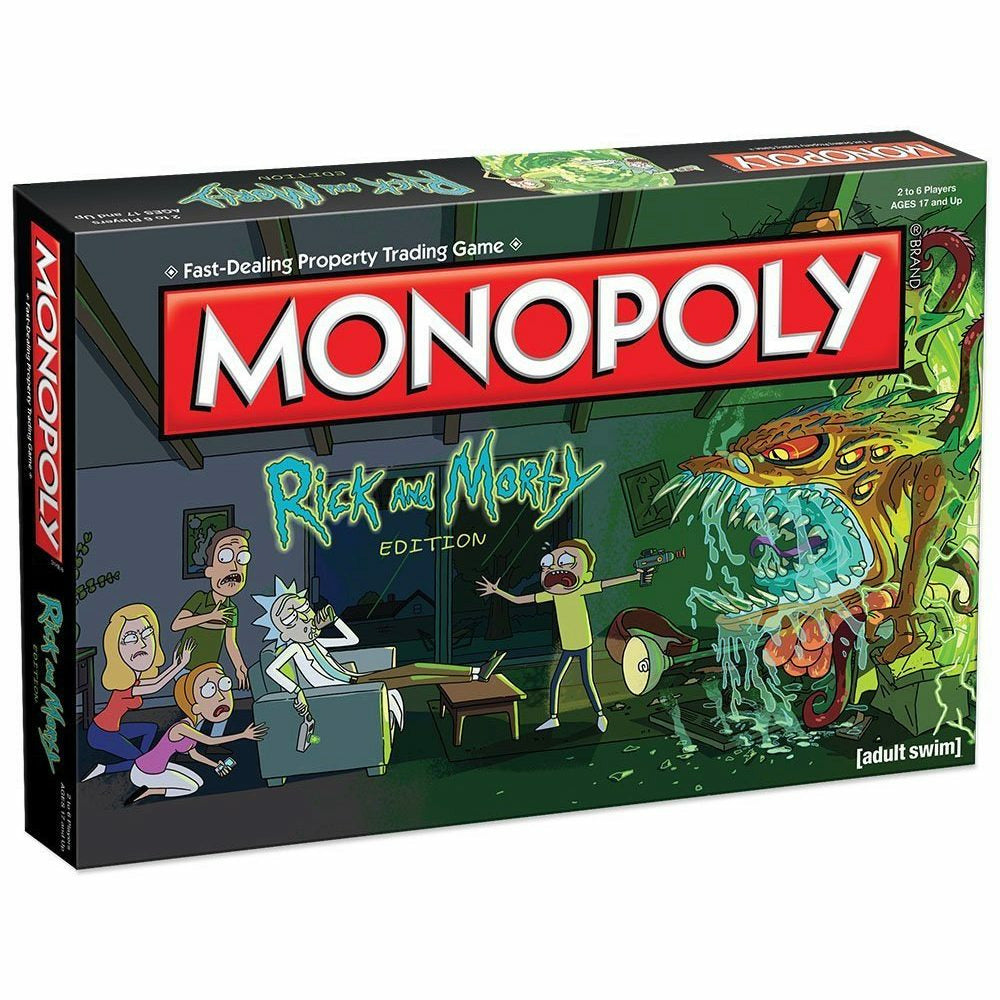 Rick and Morty Edition Monopoly Board Game