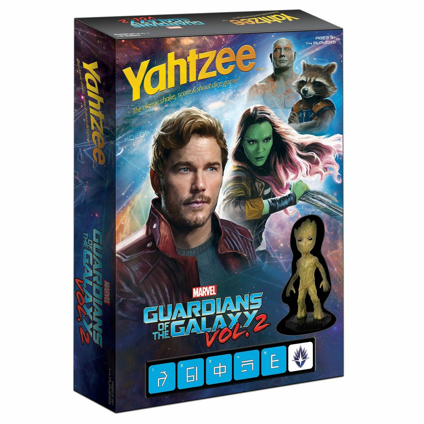Yahtzee Marvel Guardians of The Galaxy 2 Edition
