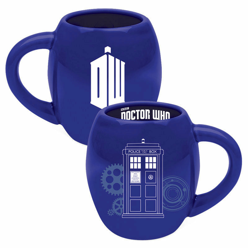 Doctor Who Logo 18 oz Oval Mug