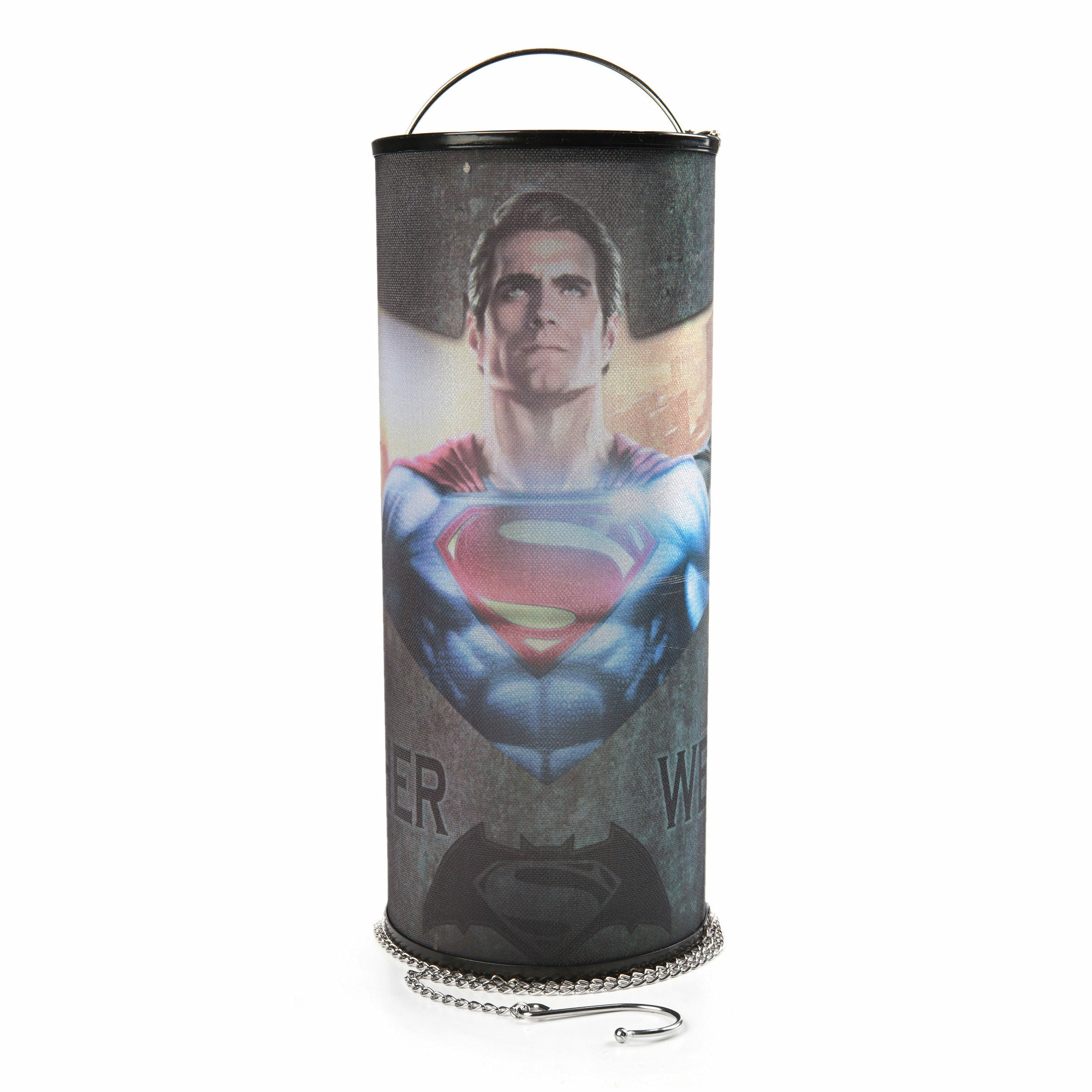 DC Comics Batman vs. Superman Together We Fight Cylindrical Nightlight
