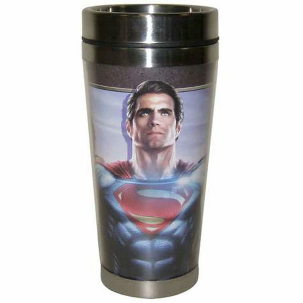 DC Comics Batman vs. Superman Together We Fight 16 oz Tumbler Mug