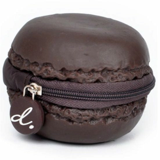 Scented Macaron Chocolate Scented Coin Purse - Brown