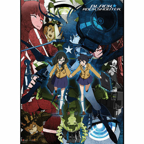 Black Rock Shooter Collage Fabric Poster