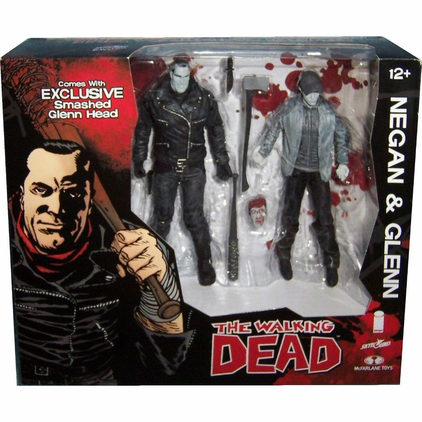 The Walking Dead Negan and Glenn Black and White Ver. Action Figure Set