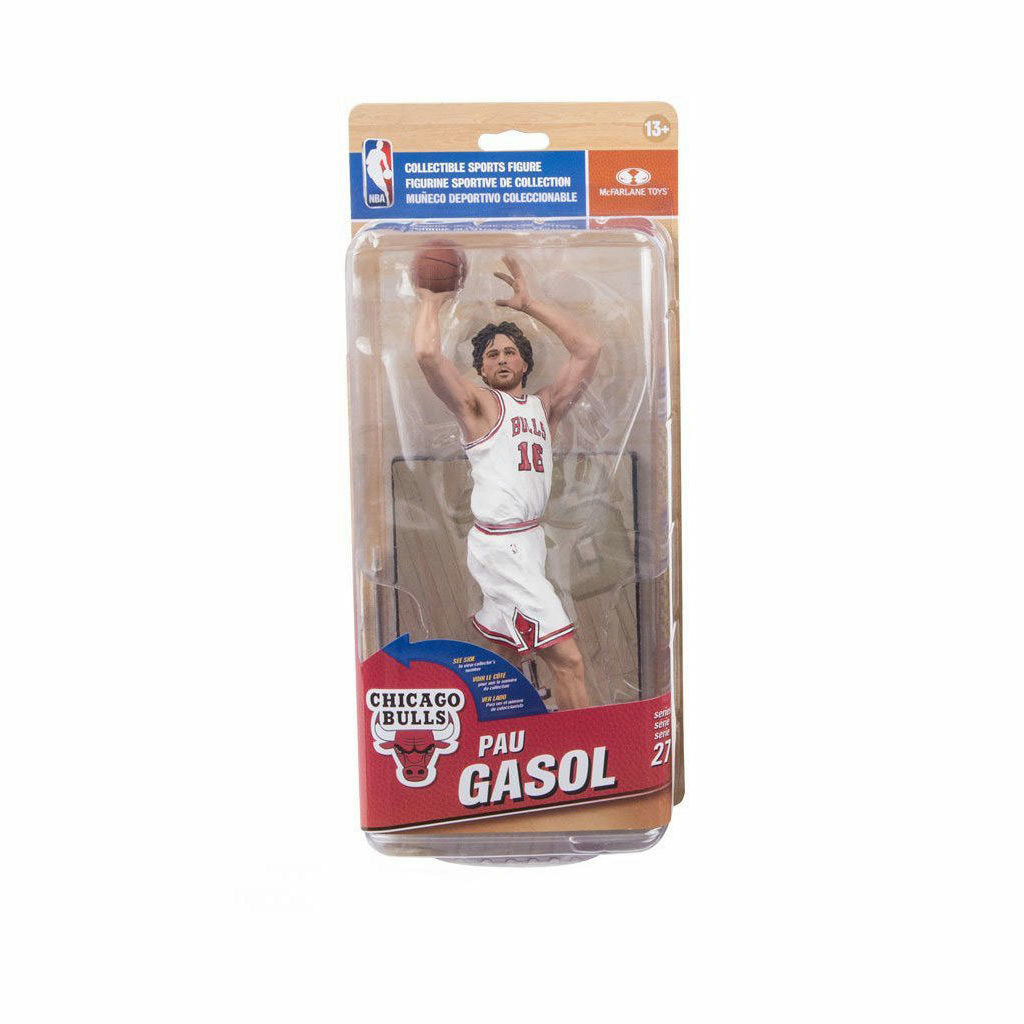 NBA Chicago Bulls Pau Gasol Figure MVP Collector Level White Uniform Variant